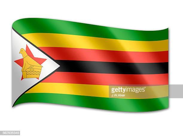 flag of zimbabwe - zimbabwe stock illustrations, clip art, cartoons, & icons