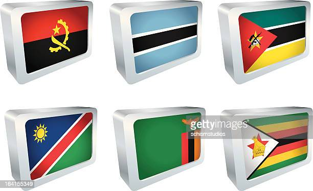 flag tile - african group - zimbabwe stock illustrations, clip art, cartoons, & icons