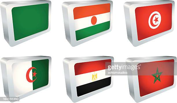 Flag Tiles - Africa Group