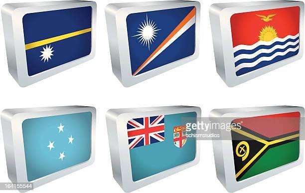 Flag Tiles - Oceania Group