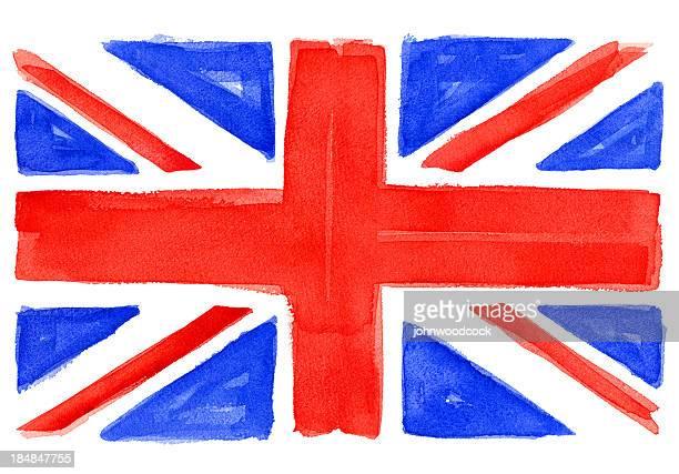 UK flag watercolor