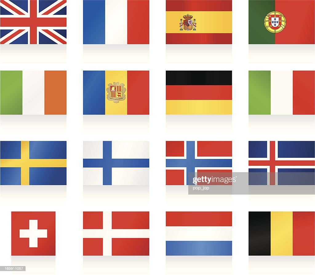 Flags collection 1 - Western and Nothern Europe