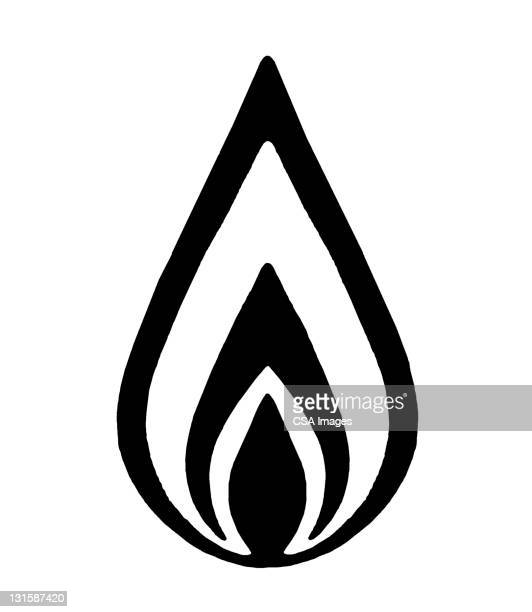 flame - the four elements stock illustrations