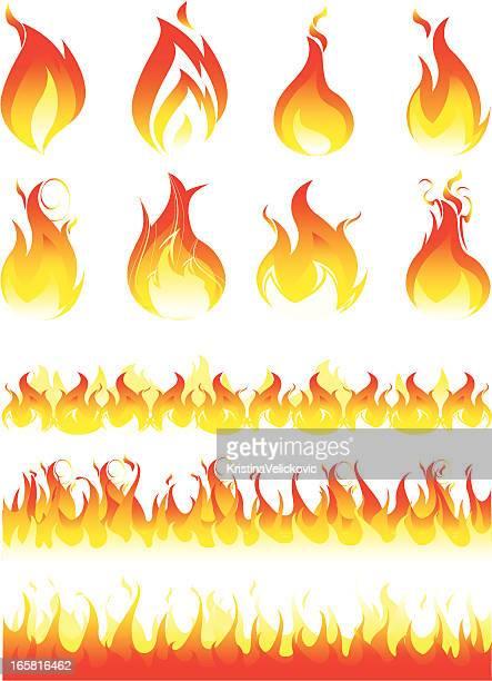 flame - modern rock stock illustrations