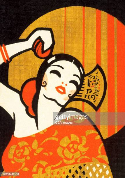 flamenco dancer - spanish culture stock illustrations