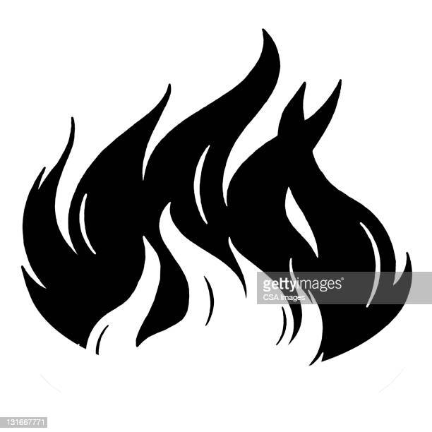 flames - the four elements stock illustrations