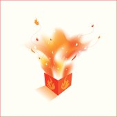 Flaming box