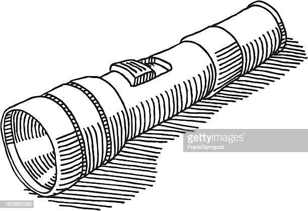 flashlight drawing - flashlight stock illustrations, clip art, cartoons, & icons
