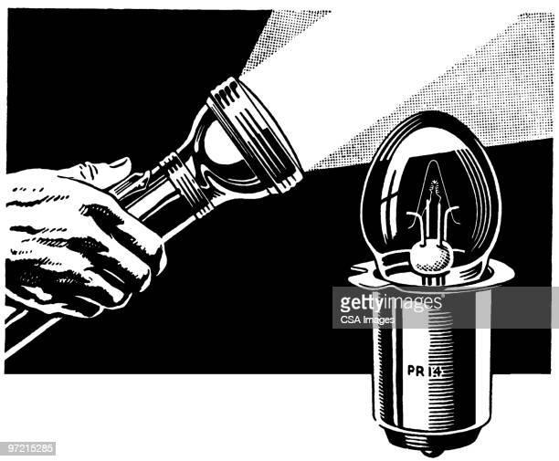 flashlight - flashlight beam stock illustrations, clip art, cartoons, & icons