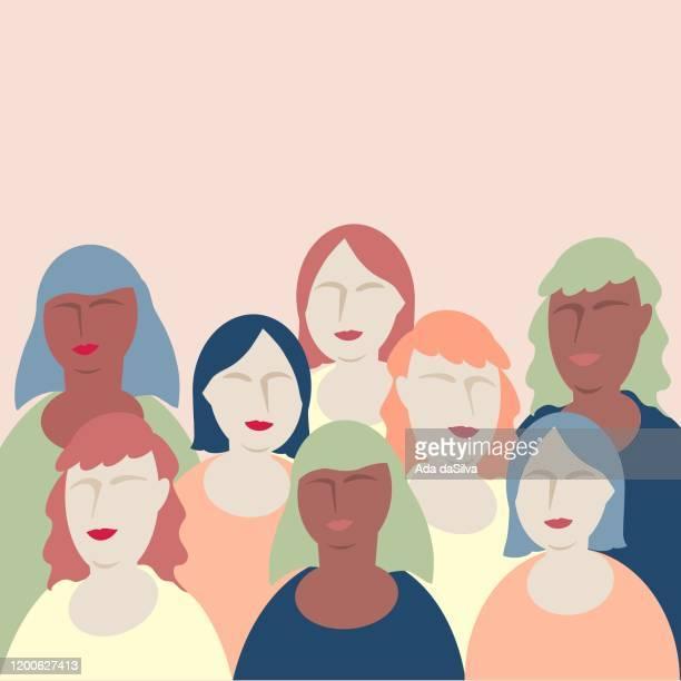 ilustrações de stock, clip art, desenhos animados e ícones de flat design women image collage - questão da mulher