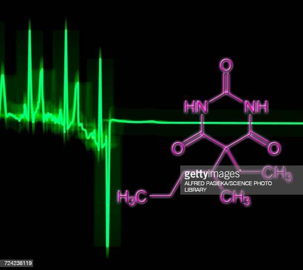 ECG flatline and pentobarbital drug