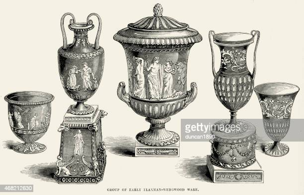 Flaxman Wedgewood Urns and Vases 19th Century
