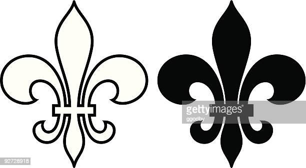 fleur de lis - new orleans stock illustrations, clip art, cartoons, & icons