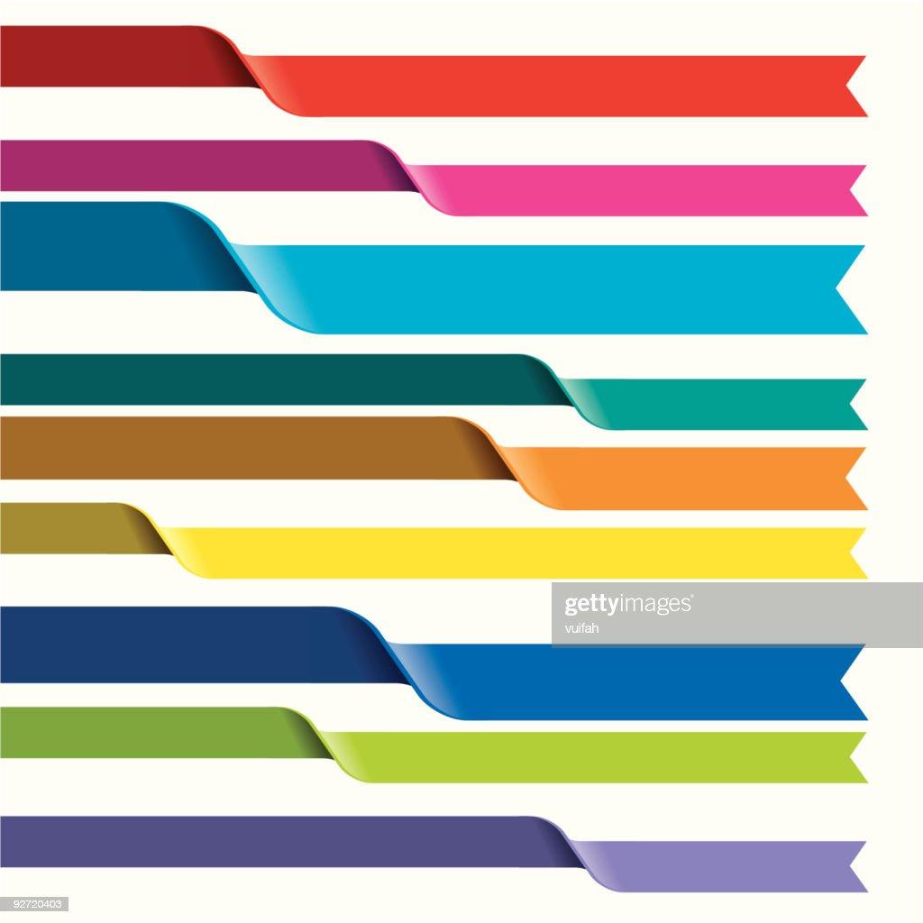 Flip Colorful Ribbons