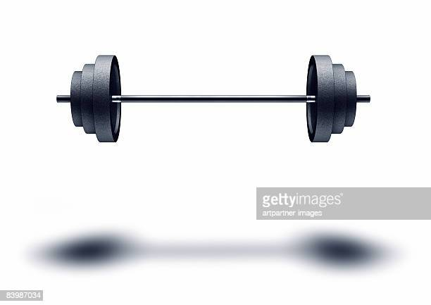 floating weight, barbell on white background - weights stock illustrations