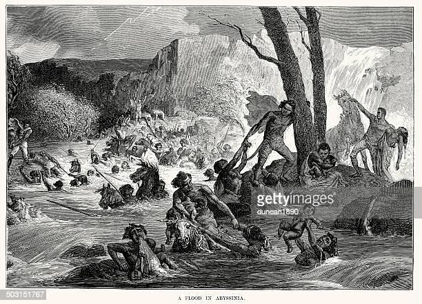flood in abyssinia - ethiopia stock illustrations, clip art, cartoons, & icons