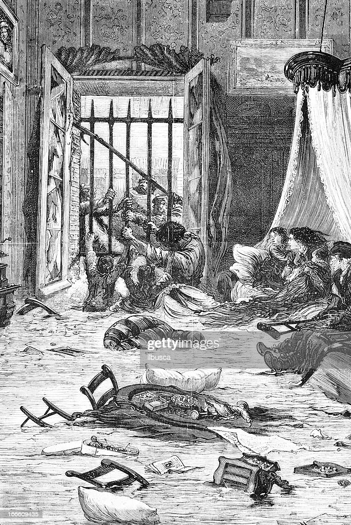 Flood in Toulouse (indoor) : stock illustration