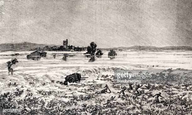 floods in the midi 1889 - midi pyrénées stock illustrations, clip art, cartoons, & icons