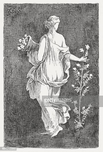 Flora, goddess of spring, Stabiae (1st century), published in 1884
