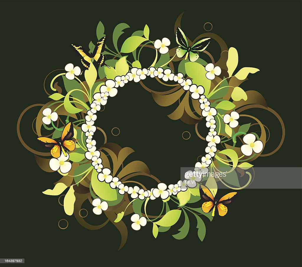 Floral frame ie decorated design elements