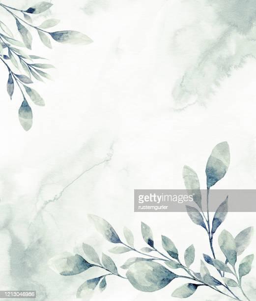 stockillustraties, clipart, cartoons en iconen met bloemenframe met aquarel tropische bladeren - niet gecultiveerd