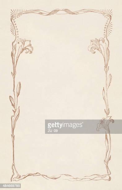ilustraciones, imágenes clip art, dibujos animados e iconos de stock de adorno floral - enredadera