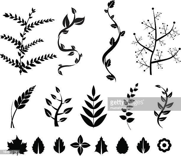 floral pattern - vine plant stock illustrations