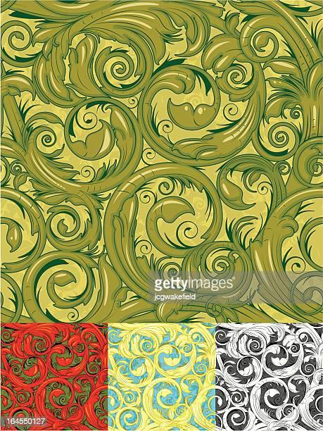 花の壁紙、シームレスなデザイン