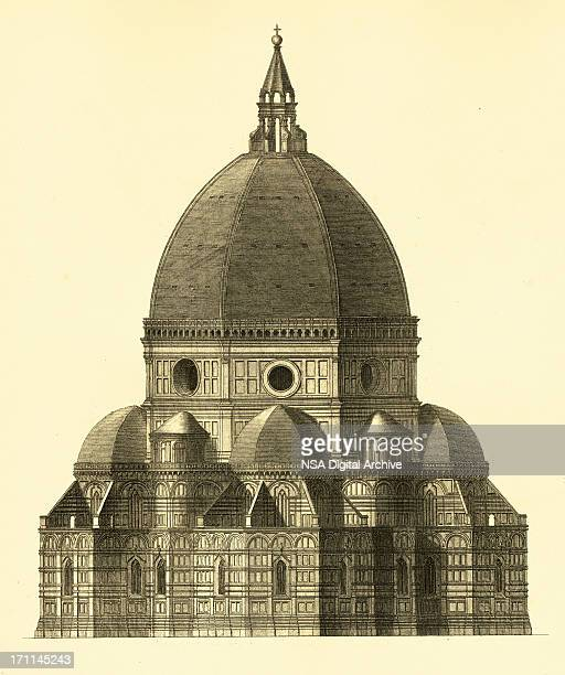 Florence Cathedral | Antique Architectural Illustrations