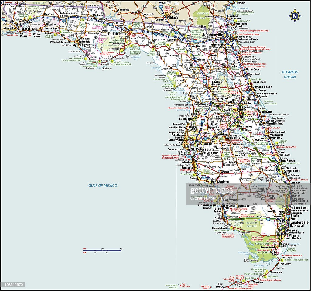 Florida Highway Map High Res Vector Graphic Getty Images