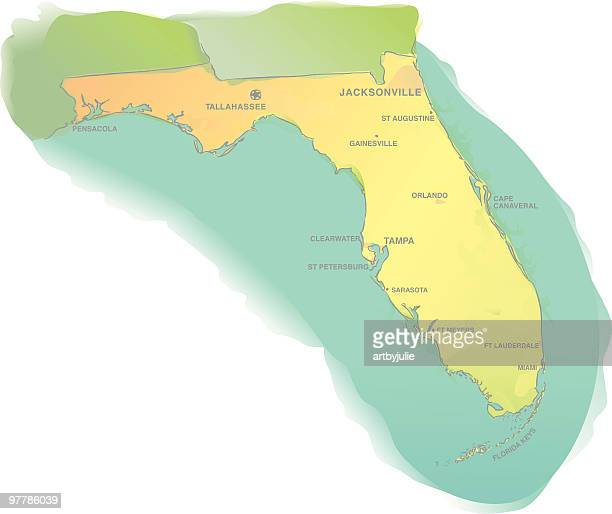 Florida map – watercolor style