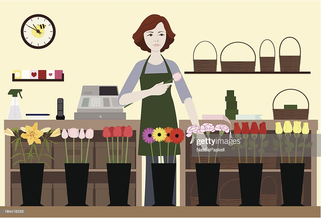 Florist-Selecting Flowers