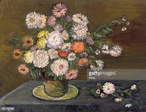 flower arrangement - flower arrangement stock illustrations