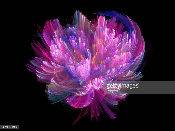 flower fairy - fractal stock illustrations