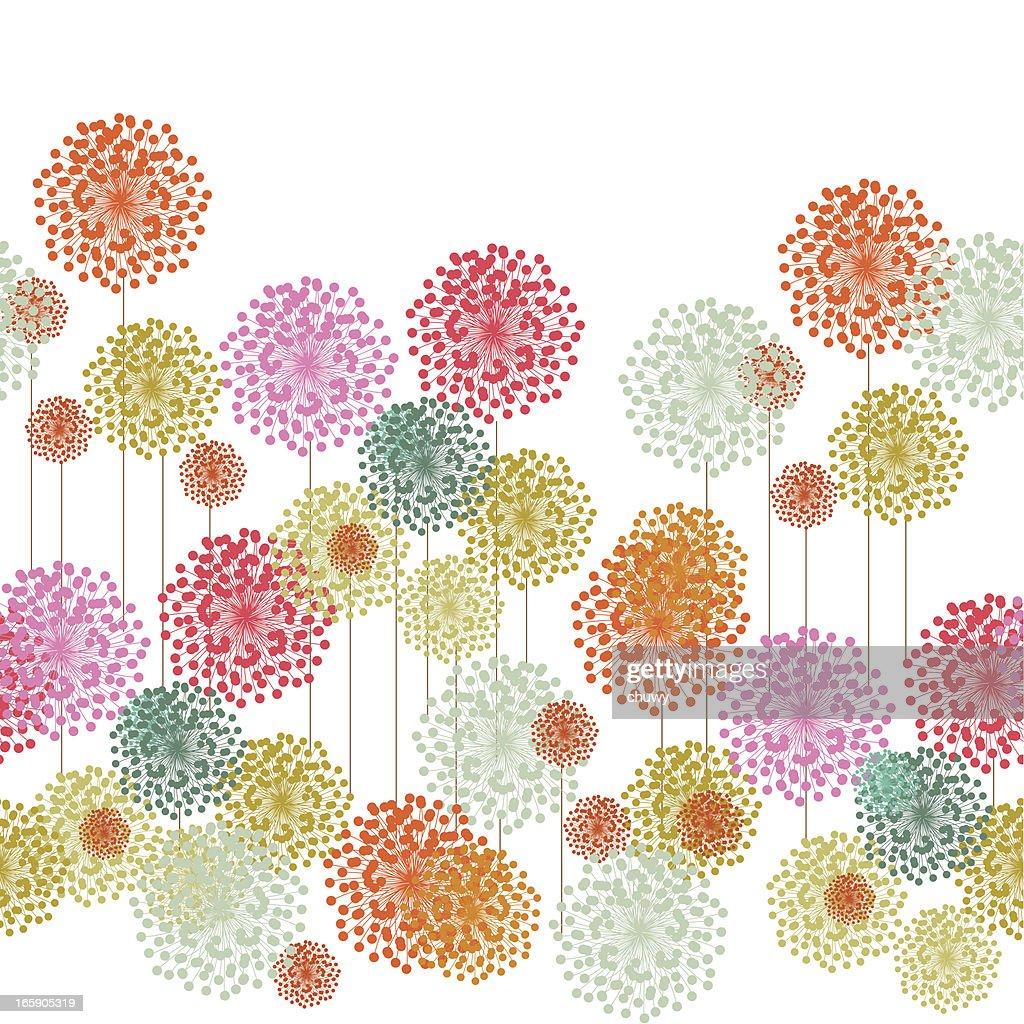 Flower garden pattern