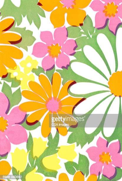 flower pattern - キッチュ点のイラスト素材/クリップアート素材/マンガ素材/アイコン素材