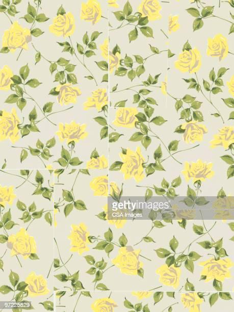 flower pattern - rose stock illustrations