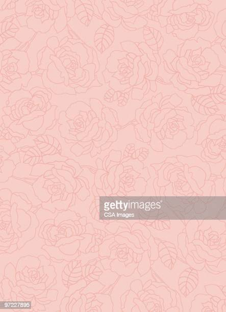 flower pattern - rosa stock illustrations