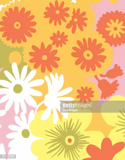 flower pattern - floral pattern stock illustrations