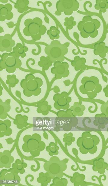 flower pattern - vine stock illustrations