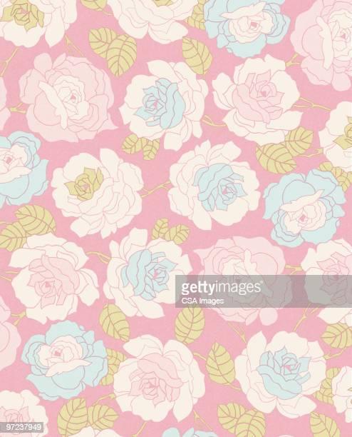 flower pattern - vertical stock illustrations