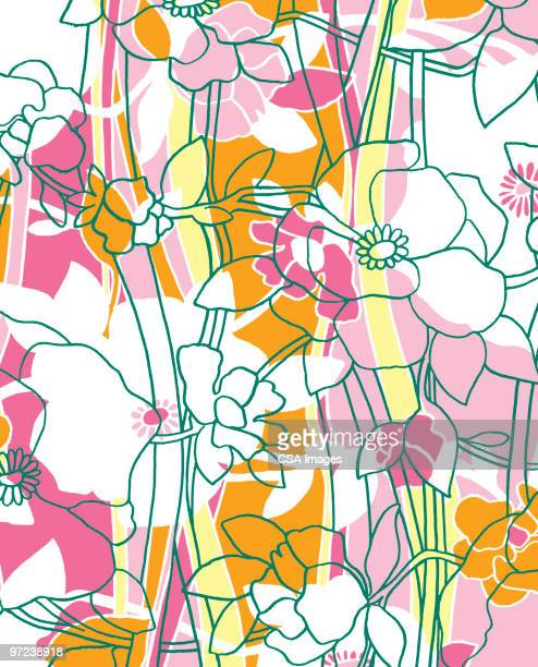 flower pattern - abstract pattern stock illustrations