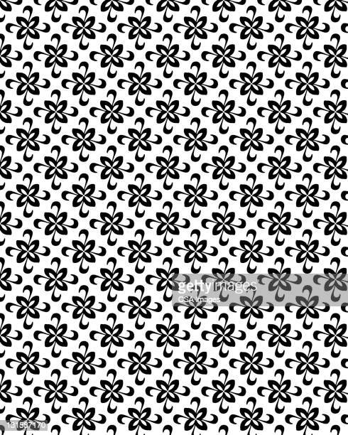 flower swirl pattern - floral pattern stock illustrations