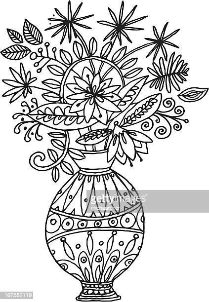 flowers - arrowwood stock illustrations, clip art, cartoons, & icons