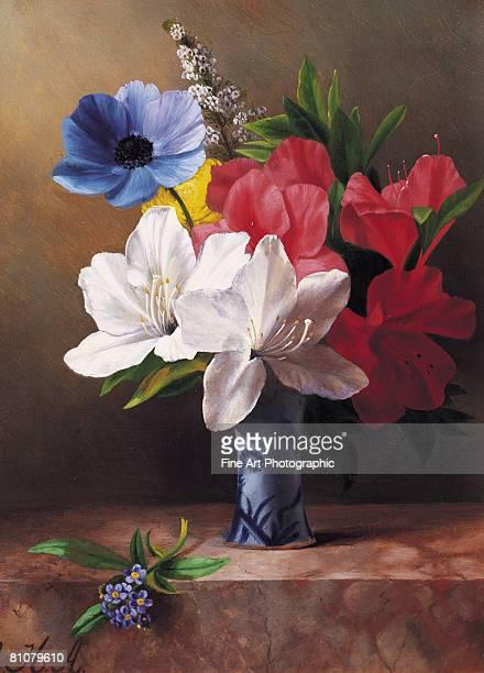 flowers in a blue vase - 1870~1879年点のイラスト素材/クリップアート素材/マンガ素材/アイコン素材