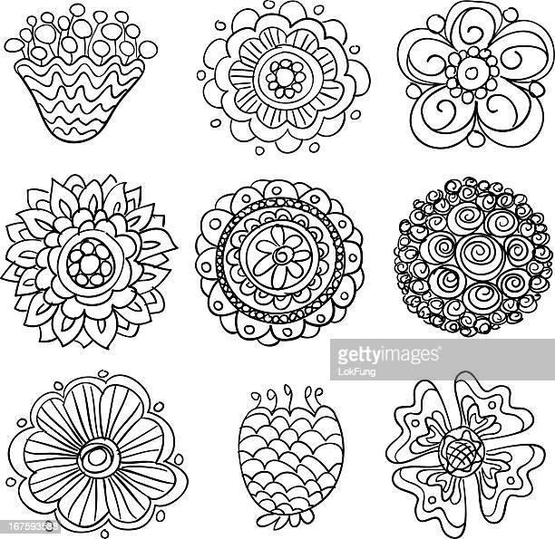 flowers in black and white - spire stock illustrations, clip art, cartoons, & icons