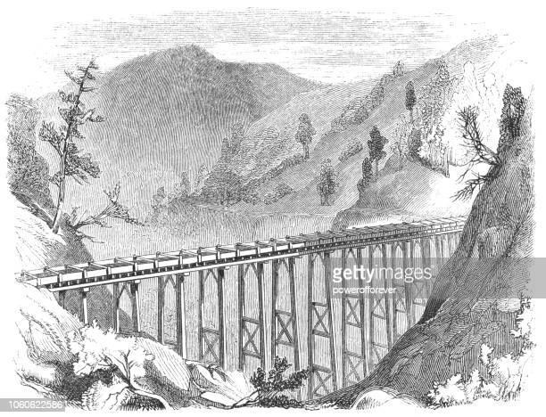 Arrastre hidráulico minero en la Sierra Nevada gama, California, Estados Unidos (siglo XIX)