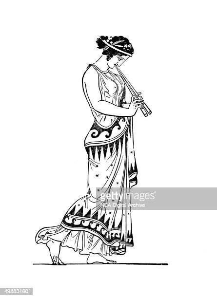 Flute Player (antique engraving from a vase)