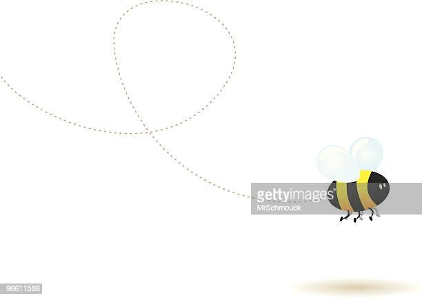 fly little bee ! - one animal stock illustrations