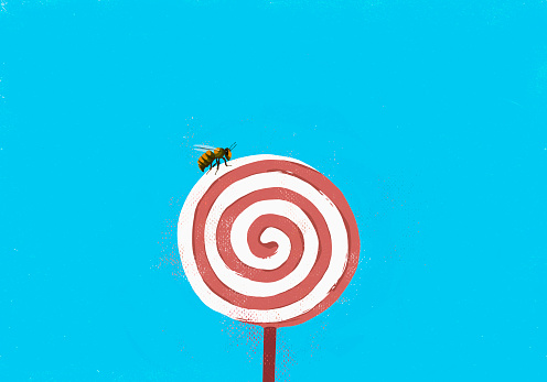 Fly on pinwheel lollipop - gettyimageskorea